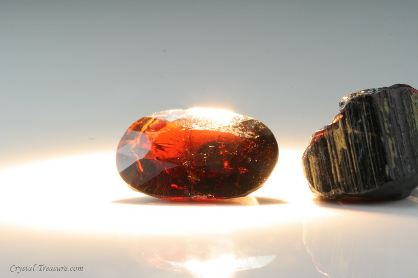 Faceted Painite And Cutting Grade Crystal Crystal