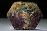 Rare doubly terminated Ruby Crystal Mogok with Fuchsite